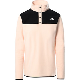The North Face TKA Glacier Pullover mit Druckknopfleiste Damen pearl blush/TNF black